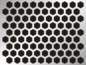 Perforated Metal Hexagonal Perforation